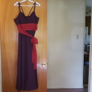 Purple Floor Length Dress